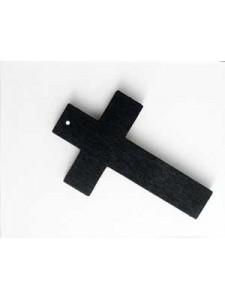 Cross Wood 50x30x4mm H1.5mm Black