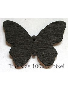 Butterfly Wood 22x31x2mm Saddle Brown