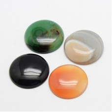 Cabochon Agate mixed 30mm