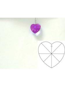 Heart 20mm Blue Violet