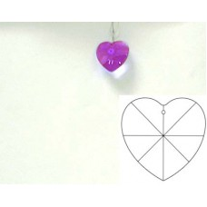 Heart 20mm Blue Violet