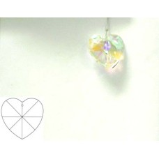 Heart 28mm Clear AB