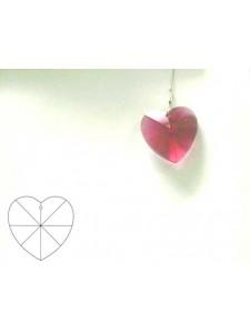 Heart 28mm Bordeaux