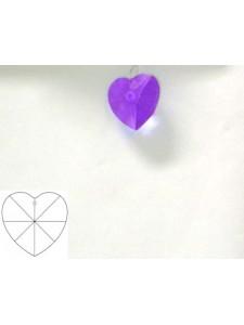 Heart 28mm Blue Violet