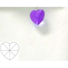 Heart 28mm Blue Violet