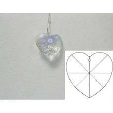 Heart 28mm Clear
