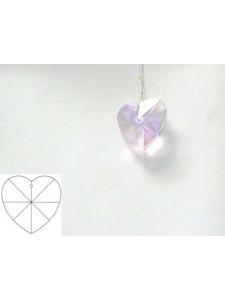 Heart 28mm Light Rose