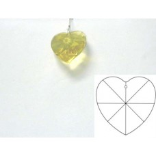 Heart 28mm Light Topaz
