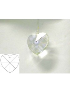 Heart 40mm Clear