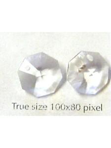 Octagon 12mm Clear one-hole Alt  QLT