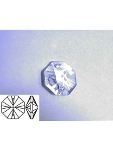Octagon 12mm Clear two Holes Alternative