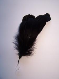 Feathers Goose Negorie Black 8 pieces