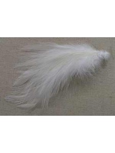 Feather Cock Hackle White 20pcs