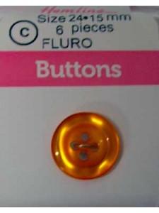 Hemline Button Fluro Shirt Orange