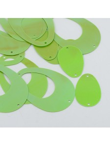 Sequin Round Eggshape Mix Green  50gram