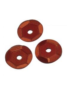 Sequin Round Round 6mm Chocolate  50gram