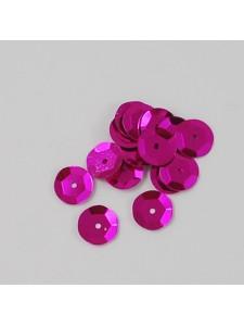 Sequin Round 6mm Med Violet Red - 50gram