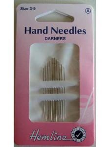 Hemline Darner Needle 10 pack Sizes 3-9