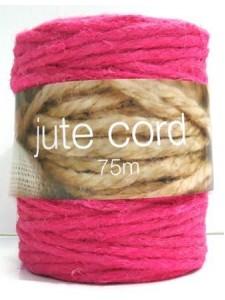 Jute Twine Pink 75 meters Roll ~3.5mm