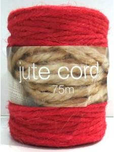 Jute Twine Red 75 meters Roll ~3.5mm