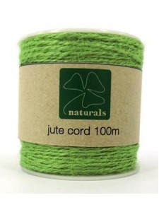 Jute Cord 2-ply Green 100 meter roll