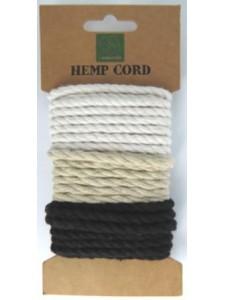Hemp Cord Twisted Mix #1 3 x 1.7 meters