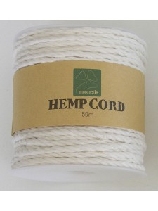 Hemp Cord Twisted ~3mm 50mtr White