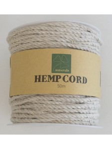 Hemp Cord Twisted ~3mm 50mtr Natural