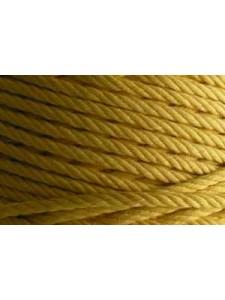 Cotton Cord 4.5mm Twist Gold 1kg 185mtr