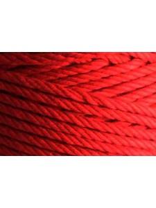 Cotton Cord 4.5mm Twist Red 1kg 185mtr