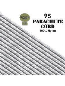 Paracord 95 (2mm) White 7.6m USA
