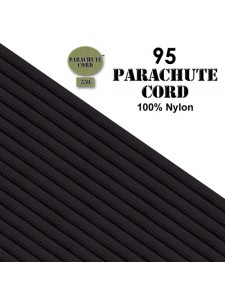 Paracord 95 (2mm) Black 7.6m USA