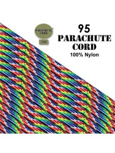 Paracord 95 (2mm) Rainbow 7.6m USA