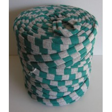 T-shirt Yarn Large Green-Grey Stripes