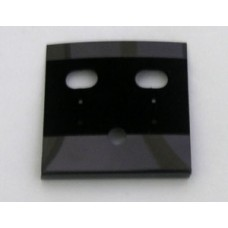 Earring Card 50x50mm clip Black