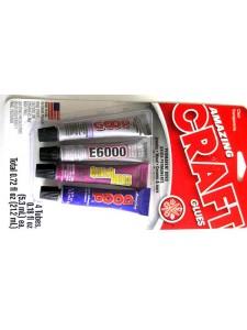 Adhesive 4x 0.18fl oz tubes E6000  Goop.