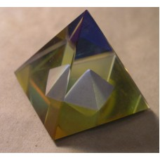 Pyramid with inset Pyramid 40mm Rainbow