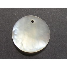 Mother of pearl Disc 20mm w/ 1 hole