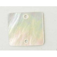 Mother of Pearl Square 20mm - 2 holes