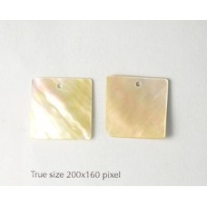 Mother of Pearl Square 20mm