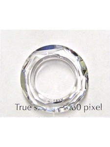 Swar Faceted Ring 20mm Clear