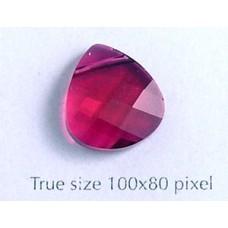 Swar Briolette Pendant 15.4x14mm Ruby