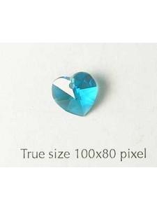 Swar Heart Stone 10mm Blue Zircon