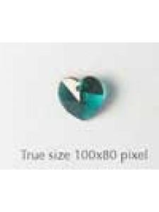 Swar Heart Stone 10mm Emerald