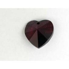 Swar Heart 14.4x14mm Garnet