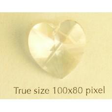 Swar Heart 18x17.5mm Clear