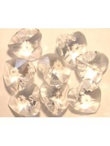 Swar Heart Stone 10mm Clear