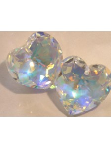 Swar Heart Multi-Faceted 18mm Clear AB