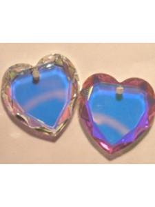 Swar Flat Heart Stone 10mm Clear AB