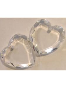 Swar Flat Heart Stone 10mm Clear